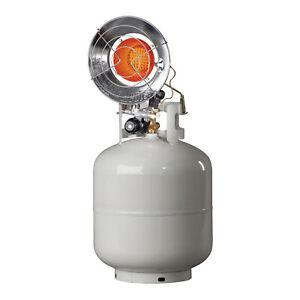 Mr. Heater Outdoor 15,000 BTU Stainless Steel Propane Gas Single Tank Top Heater