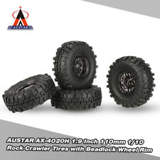 AUSTAR AX-4020H 1.9In 110mm 1/10 RC Car Rock Crawler Tire w/ Wheel Rim 4Pcs L8O0