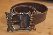 Cintura cuoio marrone MISS SIXTY brown leather belt logo M