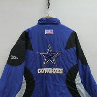 Vintage Dallas Cowboys Reebok Pullover Insulated Puffer Jacket Size 2XL 90s NFL