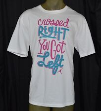 NEW NIKE AIR JORDAN CROSSED RIGHT YOU GOT LEFT XL WHITE X-LARGE MENS T-SHIRT