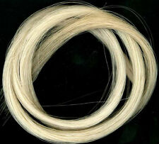 1 HANK OF REAL HORSE HAIR FOR 4/4 VIOLIN BOW, NATURAL WHITE, UK SELLER!!!
