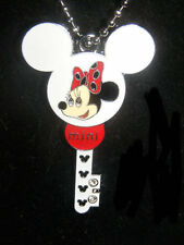 Minnie Mouse She Holds the Key Charm pendant Necklace New