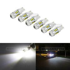 6PCS 6000K White 50W XBD CREE T10 T15 168 192 921 W5W Super Bright LED Bulbs