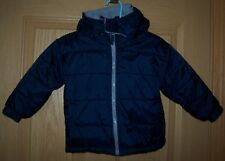 ATHLETIC WORKS 24 Mos SUPER WARM Winter Coat Jacket Outerwear - Hooded-Navy Blue