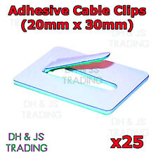 25x 20mm x 30mm Steel Self Adhesive Cable Clips Adhesive Backing Wire Cable