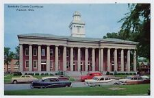 FREMONT OH 1954 Buick 1950s Cars Truck 1955 Ford Sandusky Courthouse g postcard
