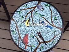 "30"" Marble Side Table Top Mosaic Inlay Handmade Hallway Outdoor Furniture Decor"