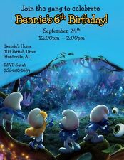 12 PRINTED Smurfs Invitations ~ Style #4 ~ NEW!  by The Notecard Lady