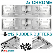 Chrome Effect Number plate surround x2 HOLDER FRAME FOR ANY CAR HIGH QUALITY
