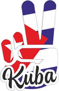 Aufkleber / Autoaufkleber Kuba - Victory - Sieg - Heckscheibe - 10x8cm
