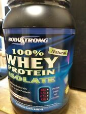 Body Strong whey protein isolate- Unlflavored 2 lb.