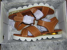 NEW Lovely People Cognac Linda Buckle Sandal Size 6