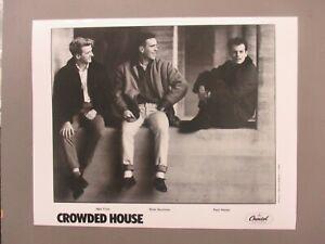 Crowded House black & white 8 X 10 glossy promo photo ORIGINAL !