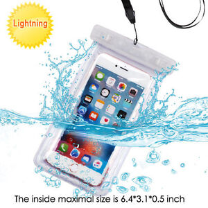 Universal Apple White Lightning Waterproof Pouch for Galaxy S8 Plus, Galaxy S8,