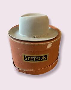 RARE-Stetson Fedora Hat Open Road Twenty Five 7 1/4 With Original Box Vintage