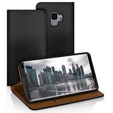 Tasche für Samsung Galaxy S9 Case Handy Hülle Etui Flip Cover Kunstleder Schwarz