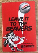 1983 Portland Beavers Baseball Schedule