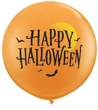 Happy Halloween Luna & Murciélagos Naranja Gigante 0,9 M Qualatex Globos Látex