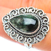 Seraphinite 925 Sterling Silver Ring Size 8.5 Ana Co Jewelry R56391F