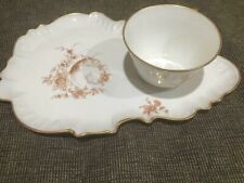 VINTAGE  LIMOGES FRANCE Snack Tray w/Tea Cup