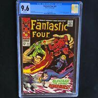 Fantastic Four #63 💥 CGC 9.6 White Pgs 💥 Sandman & Blastaar App! Marvel 1967