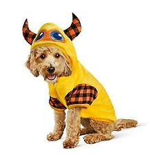 Bootique Dog Hoodie M Monstrously Cute Monster Pullover Costume Plaid Horns
