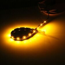 Bande Eclairage Flexible Lampe 12V 15 LEDs Etanche orange Pr Voiture 30x1cm