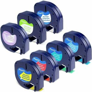 7PK Compatible with DYMO LetraTag Refills Tape 16952 91331 91330 LT-100H 12mm