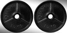 hierro fundido Placas Para Pesas 2x 15kg Ajustada 5.1cm Olímpico barras