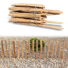 Natürlicher Staketenzaun Haselnuss imprägniert 3m, Höhe 35cm Lattenabstand 7-8cm