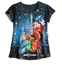 Walt Disney World Authentic 2014 Sorcerer Mickey Mouse Shirt Womens Size XS Gift