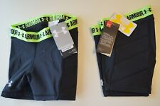 2-Pack Under Armour Girl's Softball Slider Shorts in Sz. Youth X-Small Black