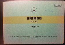 Mercedes Unimog 421 catálogo de repuestos