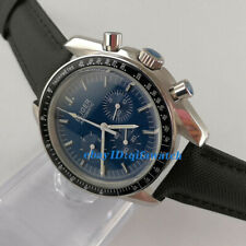 40mm blue dial week indicator multifunction automatic bliger mens watch 2909
