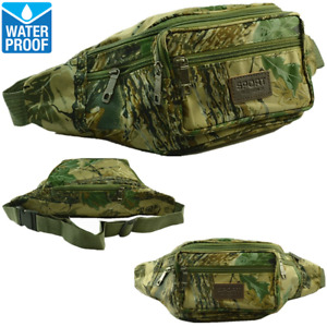 Mens Womens WATERPROOF Camo Fanny Pack Waist Shoulder Hip Belt Bag Travel Pouch