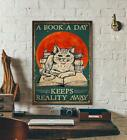 Love Book Poster - A Book A Day Keeps Reality Away - Love Wall Poster [no frame]