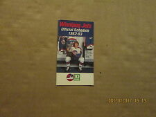 NHL Winnipeg Jets Vintage Circa 1982-83 TD BANK Logo Hockey Pocket Schedule