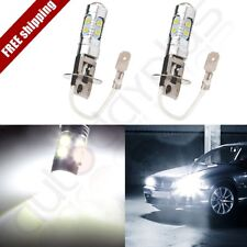 2x New H3 60W CREE LED Bright White Fog Driving DRL Light Bulb 6000k 10SMD