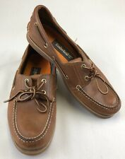 Timberland Men's Classic Leather Two-Eye Boat Shoes Root Beer US Size 11 UK 10.5