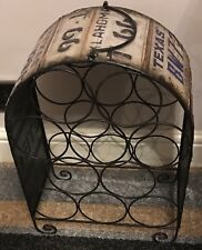 Retro Americana Wine Rack, Made From Distressed Metal, Really Unusual Item