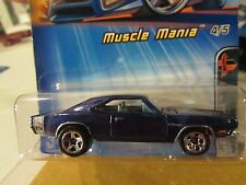 Hot Wheels 1969 Dodge Charger #104 Muscle Mania! Blue