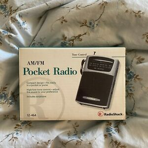 Radio Shack AM/FM Pocket Radio 12-464 Battery Operated Tone-Control