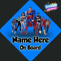 Superheroes Personalised Car Sign ~ Choice of Characters ~ Child/Baby On Board
