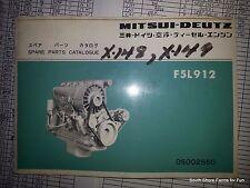 MITSUI KHD DEUTZ F5L 912 PARTS MANUAL DIESEL ENGINE 05002550