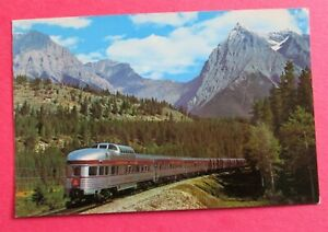 The Canadian Canadian Pacific's Dome Streamliner in the Rockies Train Postcard