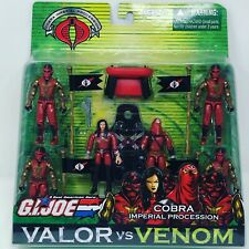 Hasbro 2005 GI JOE Valor vs Venom COBRA Imperial Procession Troop 6 Pack MOC MIB