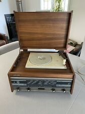 Ancienne radio Philips  en teck années 70