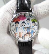 THE BEATLES,Lads of Liverpool,Retro MEN'S CHARACTER WATCH,Black Leather Band,M22