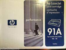 NEW NOB GENUINE HP 92291A BLACK HIGH YIELD PRINT CARTRIDGE LASERJET IIISi 4Si